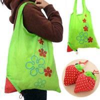 Wiederverwendbare Öko Erdbeer Aufbewahrungs Tasche Faltbare Einkaufstasche N8G4