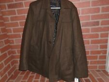 TOMMY HILFIGER MENS BROWN WOOL JACKET SIZE LARGE NEW WITH...