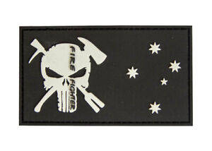 PVC Punisher Firefighter Patch 95mm x 55mm - New