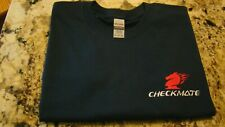 Checkmate Knight Boat Logo Navy Long Sleeve XL T-Shirt New Embroidered
