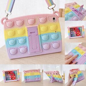 Case For iPad 8th 7th 6th 5th Air 4 Mini 5 Pop Fidget Toys Push It Bubble Cover