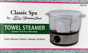 Classic Spa Towel Steamer with 6 Soft Terry Towels by Fanta Sea