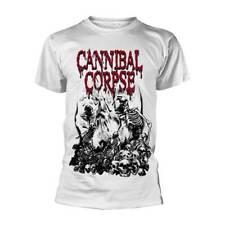 Cannibal Corpse 'Pile Of Skulls' White T shirt - NEW