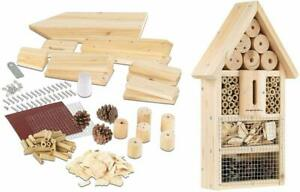 Bausatz Kinder Insektenhaus Insekten Hotel Nisthilfe Schutz für Nützlinge Bienen