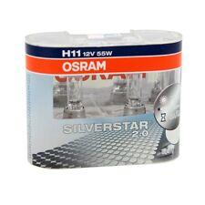 2x OSRAM H11 55 WATT SILVER STAR 2.0 HALOGENLAMPE AUTOLAMPE AUTOBIRNE GLÜHBIRNE