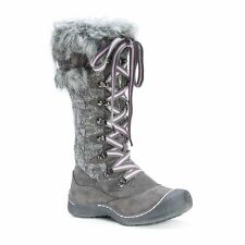 NEW Women's MUK LUKS Gwen Tall Lace Up Snow Boot Grey Lavender Size 11
