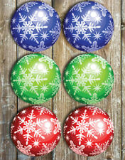 Christmas Bauble Mix Drink Coasters Set Of 6 Non Slip Neoprene