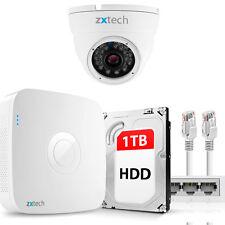 HD 1.3 MP Megapixel Recording IP Camera & NVR PoE Free P2P CCTV Kit 1TB OE41AA1