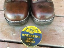 Vintage wolverine work boots hunting boots size 9 1/2 E very good