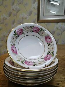6 x Royal Worcester ROYAL GARDEN ELGAR cereal / dessert bowls