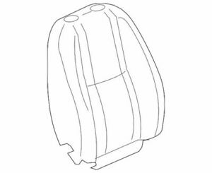 Genuine GM 2007-2014 Cadillac Chevrolet GMC Front Seat Back Cover 20987371