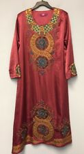 Long Caftan Long Traditional Dress Embriodered Long Sleeves Size M
