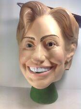NWT Hillary Clinton Halloween Mask Full Rubber Head New Presidential Politician