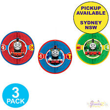 THOMAS THE TANK ENGINE PARTY SUPPLIES 3 HONEYCOMB BIRTHDAY HANGING DECORATIONS