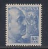 Spain (1949) New Sleeveless Stamp Hinges MNH - edifil 1052 (45 Cts) Franco -