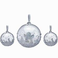 Swarovski 2015 Christmas Ball Ornament Set ~ 3 in Set ~ #5136414 ~ NIB