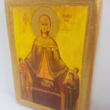 Saint Tabitha Tabita Tabatha Tabea Byzantine Greek Orthodox Rare Icon Art