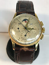 1940s Universal Geneve Tri Compax 18k Gold Vintage Watch - Very Rare