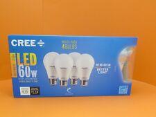 NEW Cree 4 Pack LED 60 Watt Replacment Soft White 2700K Light Bulbs 1001823588