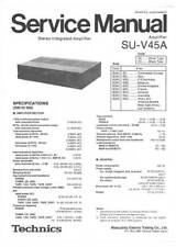 TECHNICS SU-V45A SU V45A - AMPLIFIER - SERVICE MANUAL - MANUALE DI SERVIZIO -