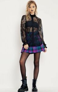 Black Milk L immortal lace high neck top MADE IN AUS AND BRAND NEW