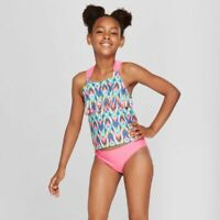 Girls Cat and Jack Tankini 50 SPF Swim Suit Set Size XL (14-16) ~ NWT