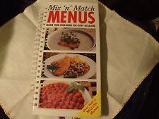 Unique Flip Cookbook to Mix-N-Match Quick Menus ~ Create your own menu