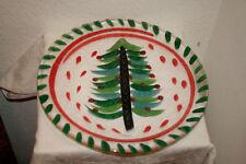 Glass Christmas Serving Plates