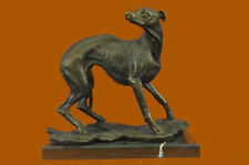 Bronze Large Greyhound Whippet Genuine Hotcast Statue Hand Made Sculpture Art Nr