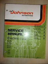 JOHNSON 1976 ELECTRIC E2B E4B E2T & E4T MARINE OUTBOARD ENGINE SERVICE MANUAL