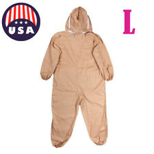 Professional Cotton Full Body Beekeeping Bee Keeping Suit w/ Veil Hood L Us! A+