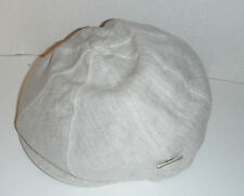 STETSON USA linen 8 PANEL NEWSBOY cap hat MEDIUM natural
