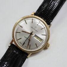 schöne Jules Jürgensen Vintage Herrenuhr 585 Gold, Tag/Datum