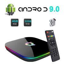 Q plus 6K 4+32G Android 9.0 Pie Smart TV Box Quad Core WIFI HDMI Media Player US