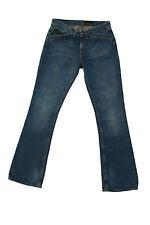 CK Calvin Klein Jeans Damas Azul Denim desgastado y Acampanado BOOTCUT FIT W28 UK10 Look