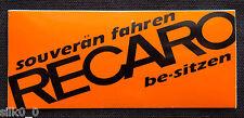 (TUNING) STICKER / Autocollant - RECARO /90x40mm / ORANGE