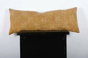 Long Lumbar Pillow Cover Mudcloth Bolster Pillow Cover Body Support Pillow Cover