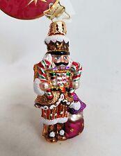 Radko Sir Sweet Tooth Nutcracker Gem Glass Ornament  Made in Poland New