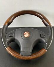 MGF MG F TF MGTF Original Walnut / Wood Wooden & Leather Steering Wheel
