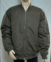Goodfellow  Men's  Zippered Bomber Jacket Brown Lined Water Resistant SZ XL NWT