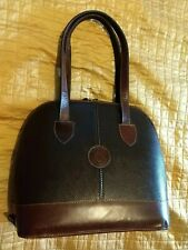 Cardon Cosas Nuestras Leather Dark Brown Leather Domed Double Zip Shoulder Bag