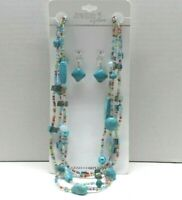 """Jewelry is Fun"" statement 18"" necklace w/3"" ext multi-color 4 strand glass bead"