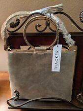 Thacker NYC Women's Le Pouch Gold Leather Handbag w/ Detach Strap NWT $148