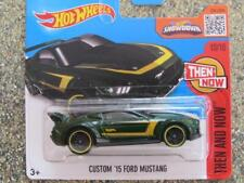 HOT WHEELS 2016 #110/250 Custom 2015 Ford Mustang Verde HW ENTONCES Y Know Funda