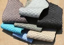 Veg Tan Asia Carp Fish Skin Hide Leather Craft Supply 8 colors