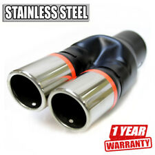 Sport Dual Twin Exhaust Muffler Pipe Tail Chrome Fits Bmw E30 E32 E34 E36 E46