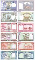 Nepal 1 + 2 + 5 + 10 + 20 + 50 Rupees Set of 6 Banknotes 6 PCS UNC
