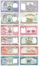 Nepal 1 + 2 + 5 + 10 + 20 + 50 Rupees Set of 6 Banknotes 6 PCS UNC