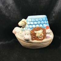 "Ceramic Noah's Ark 6-1/2"" Children's Piggy Coin Bank"