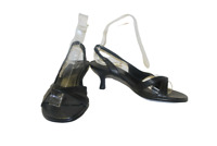 Black Shoe Tailor Strappy Shoes Size 3 Ladies Comfy Heels